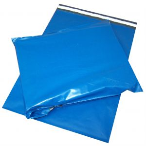 Blue Plastic Postage Mailing Bags 6X9