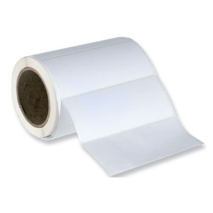 white blank postage address labels on a roll 89x36mm